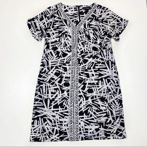 Lane Bryant 22/24 black & white career wear dress